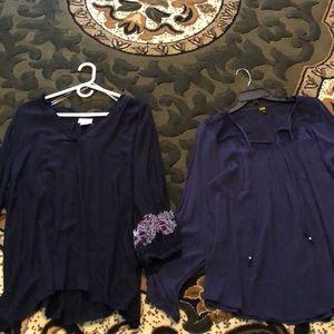 Navy blue blouse bundle EUC